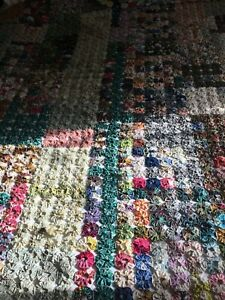 Hand made patchwork quilt queen size