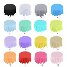 "84"" Plastic Table Cover Cloth Party Camping Tablecloth Round Covers Cloths Decor"