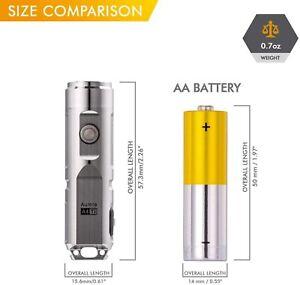 RovyVon  A4x Titanium 650 Lumens Mini Rechargeable CREE LED,Flashlight,Silver