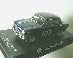 ALFA ROMEO GIULIETTA TI 1962 Monte-Carlo Rally DIFETTO VERNICE PAINT DEFECT 1/43