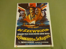 MOVIE POSTER / CINEMA AFFICHE - THE SEA WOLVES (GREGORY PECK, ROGER MOORE)