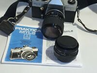 Praktica MTL5 camera + Pentacon 50mm f2.8 lens plus 35mm 70mm zoom lens
