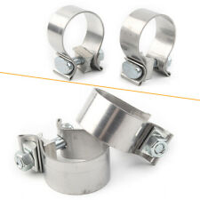 """Stainless Steel Exhaust Muffler Clamps for Harley Davidson 1.75"""" Inlets"""