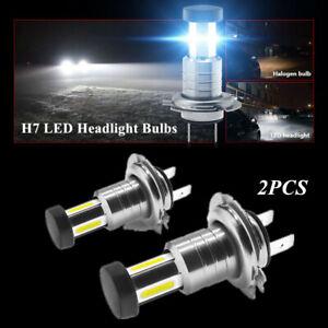 2PCS 110W Car 360 Degree H7 LED Headlight Lamp Bulbs Lighting Fog Light & DRL