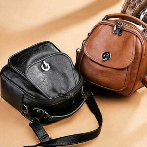 Women Lady Girl Mini Leather Backpack Small Travel Shoulder Rucksack School Bag*