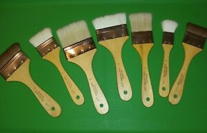 """LOT OF 7 Langnickel Artist Paint Brushes 1"""" 2"""" and 3"""""""