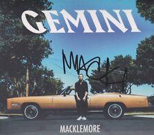 """MACKLEMORE """"Gemini"""" CD Album Digipack signed signiert IN PERSON Autogramm RAR"""