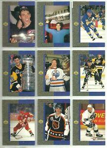 1993-94 UPPER DECK GRETZKY'S GREAT ONES COMPLETE 10 CARD INSERT SET LOT Lemieux