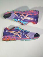 Asics Gel-Frantic 7 T3A6Q Women's Athletic Shoes Multi-Color Rainbow Size 8.5