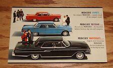 Original 1962 Mercury Comet Meteor Monterey Brochure Postcard 62