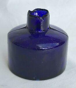 Lovely Blue Round Ink Bottle