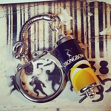 Unique STRONGBOW KEYRING fab CIDER pub MINIATURE keychain BEER CAN west country