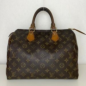 RRP £830 Louis Vuitton Authentic Speedy 30 Monogram Canvas TH2077 Bag Pre-Loved