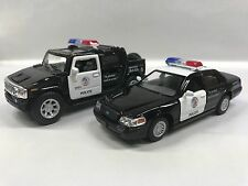 Hummer H2 & Crow Vitoria Police Car 1:40 KT5097-5327.DP Set of 2
