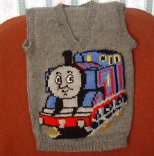 THOMAS TRAIN  NEW HAND KNITTED SIZE 4-5