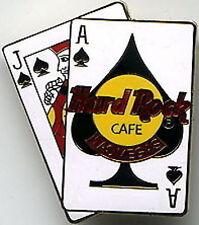 Hard Rock Cafe LAS VEGAS Blackjack Ace Jack of Spades PIN - HRC Catalog #4551 BJ