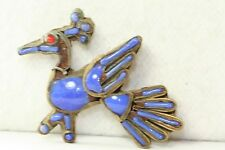 1920'S VINTAGE INDIA MIDDLE EASTERN GLASS FIGURAL BIRD PIN