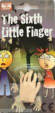 SIXTH LITTLE FINGER JOKE Latex Rubber Hand Puppet Gag Halloween Toy Magic Trick