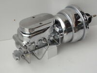 "TORANA LH-LX 7 "" CHROME BRAKE BOOSTER D/DIAPHRAGM & MASTER CYLINDER BALL MILLED"