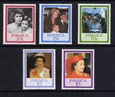Jamaica 1986 60º cumpleaños Sg 646-650 Mnh.