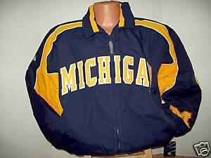Michigan University Wolverines Majestic Jacket  - Large Free Ship