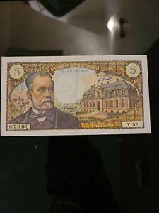 Billet france 5 francs Pasteur 6.2.1969 sup