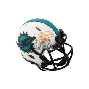 Tua Tagovailoa Autographed Dolphins Lunar Eclipse Mini Football Helmet Fanatics