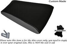 BLACK & GREY CUSTOM FITS RIEJU RS3 125 REAR PILLION LEATHER SEAT COVER