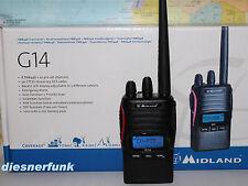 Midland G14 Profi PMR446 8+91 Kanal mit Scrambler Funktion 5W nach Mod's möglich