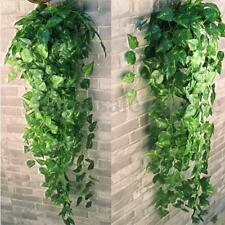 2 Bunch 4ft Artificial Silk Scindapsus Ivy Leaf Garland Plant Vine Foliage Decor