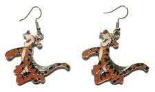 Tigger Winnie The Pooh's Friend Enamel Metal French Wire Earrings