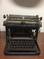 ANTIQUE FAY SHOLES  UNDERSTRIKE TYPEWRITER