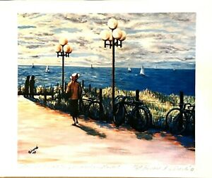 VNTG B. Giardi Stroll by the Nord Zee Art print Scheveningen Holland Netherlands