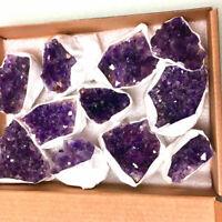 100g Amethys Cluster Natural Crystal Reiki Healing Energy Stone Chakra Bulk Lot