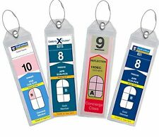 4 PACK Cruise Luggage Tag Holder Zip Seal & Steel - Royal Caribbean & Celebrity
