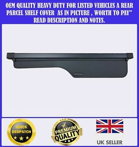 FOR LAND ROVER DISCOVERY 3/4 2005-2015 CARGO PARCEL SHELF LOAD COVER BLIND BLACK
