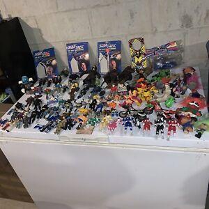 Huge 80's, 90's Action Figure Lot: TMNT, Battle Beasts, Kenner, Power Rangers