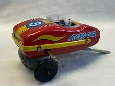 Vtg Yone Tin Litho Acro-Car Wind Up Race Car Tin Toy Made In Japan