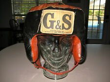 Vintage G & S Sporting Goods Leather Boxing Head Gear, ORIGINAL, Essex St. NY.