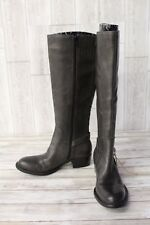 Born D78691 Leather Tall Riding Boots - Women's Size 6.5M, Wide Calf, Brown