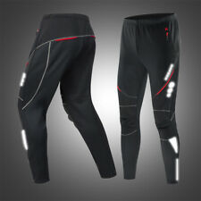 Mens Winter Cycling Pants Thermal Fleece Bike Bicycle Running Windproof Trousers