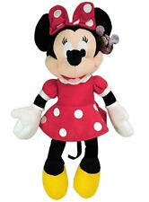 """MINNIE MOUSE Soft PLUSH DOLL Toy  15"""" RED Great Gift Licensed DISNEY"""