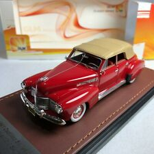 1/43 GLM Model Cadillac Series 62 Convertible Sedan 1941 Red Closed GLM119202