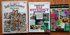 Self-Sufficiency Books x 3 Complete Guide To Home Garden Sustainable Gardening
