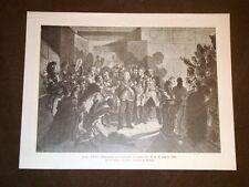 Re Luigi XVIII di Borbone abbandona Le Tuilieries Notte tra il 19 e 20.03.1815