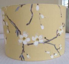 Hecho a mano pantalla prestigioso EMI Mimosa ocre, azafrán, amarillo, gris floral