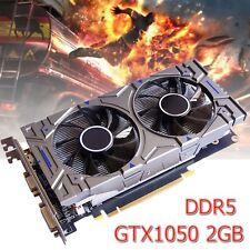 GTX1050 2GB GDDR5 192Bit VGA DVI HDMI Grafikkarte für NVIDIA GeForce Gaming $DE