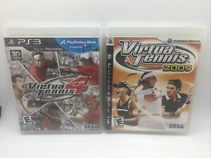 Virtua Tennis 4 & 2009 lot (Sony PlayStation 3) PS3 Two Games