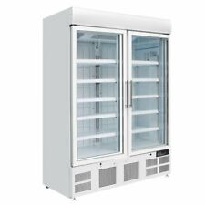 More details for polar upright display double door freezer 920 litre white - gh507 catering