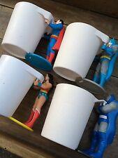 Batman Superman Superhero Comic Book Action Figure Cup Set.